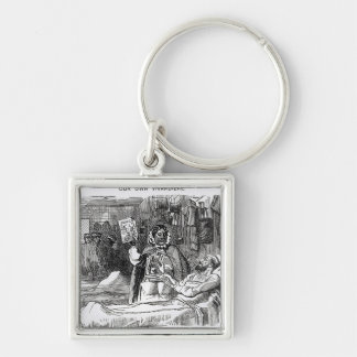 Our Own Vivandiere, Mrs Seacole Silver-Colored Square Key Ring