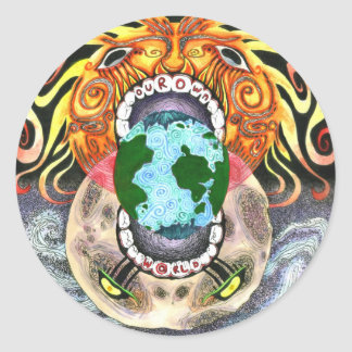 Our Own World by Tamsin Doherty Full-Color Classic Round Sticker