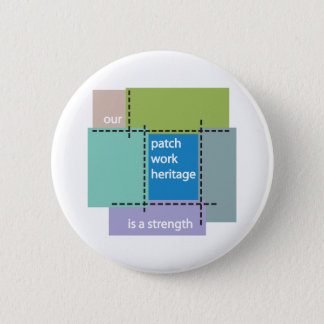 Our Patchwork Heritage is a Strength 6 Cm Round Badge