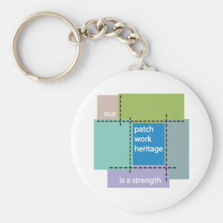 Our Patchwork Heritage is a Strength Key Chains