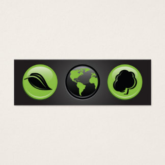 Our Planet Bookmark Mini Business Card