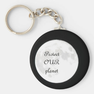 Our Planet Basic Round Button Key Ring