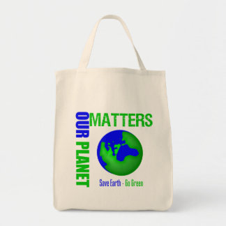 Our Planet Matters Save Earth Go Green Canvas Bag