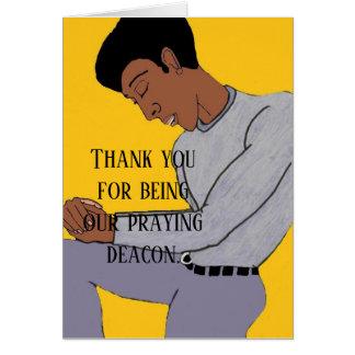 Our praying deacon card