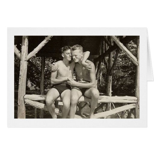 Our Quiet Moments Gay Men Vintage Greeting Card