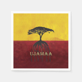Our Roots Run Deep Kwanzaa Party Paper Napkins