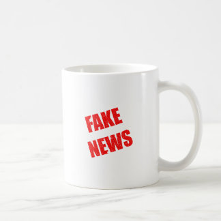 Our society is dominated by fake news coffee mug