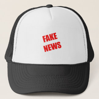 Our society is dominated by fake news trucker hat