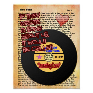 Our Song -- Amazing Love -- Art Print
