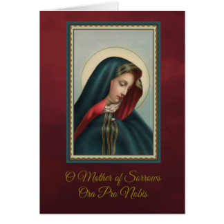 Our Sorrowful Mother Mass Offering w/prayer Card
