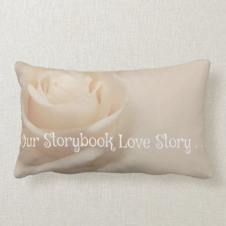 """Our Storybook Love Story"" Lumbar Pillow Throw Cushions"