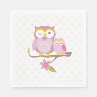 Our Sweet Baby Girl Owl Baby Shower Napkin Disposable Serviette