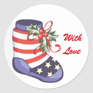 Our Troops Christmas Sticker