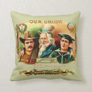 Our Union Vintage Cigar Box Label Cushion