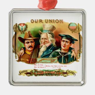 Our Union Vintage Cigar Box Label Metal Ornament