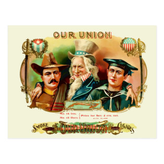 Our Union Vintage Cigar Box Label Postcard