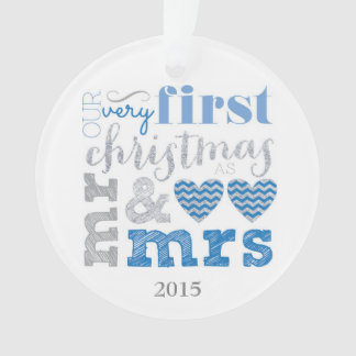 Our Very First Christmas as Mr & Mrs Ornament