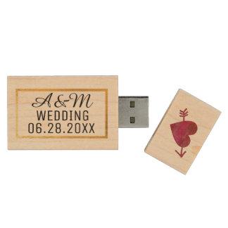 our wedding best photos wood USB flash drive