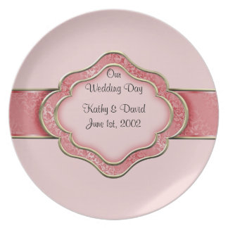 Our Wedding Day (Coral) Party Plates