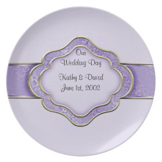 Our Wedding Day (Lilac) Dinner Plate