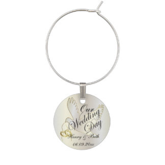 Our Wedding Day | Personalized Wine Glass Charms