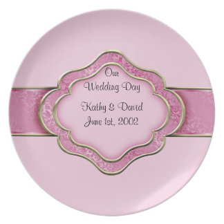 Our Wedding Day (Rose) Party Plates