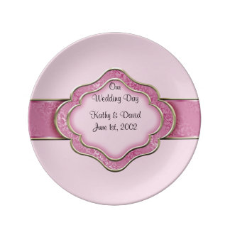 Our Wedding Day (Rose) Porcelain Plate