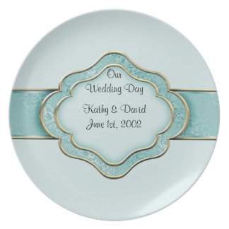 Our Wedding Day (Teal) Plate