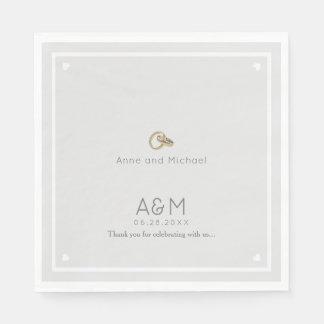 our wedding pale gray reception party disposable serviette