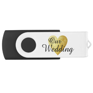 our wedding photographies swivel USB 2.0 flash drive
