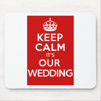 Our Wedding Red Mouse Pad
