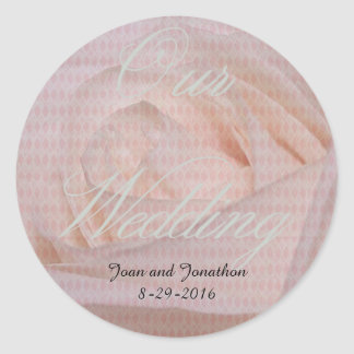 Our Wedding Rose Envelope Seal Stickers