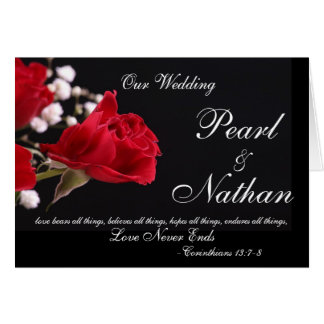 Our Wedding Rose Invitations