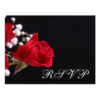 Our Wedding Rose RSVP Postcard