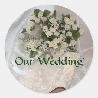 Our Wedding Round Sticker