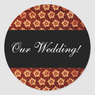 our_wedding round sticker