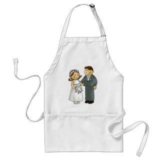 Our wedding standard apron