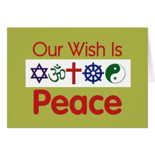 Our Wish PEACE Card