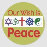 Our Wish PEACE Sticker