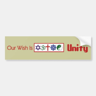 Our Wish UNITY Bumper Sticker