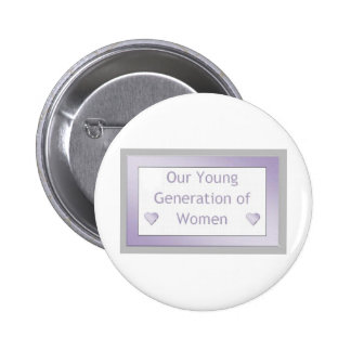 Our Young Generation of Women Logo 3 Pins