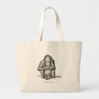 Ourang Outang, Victorian Antique Picture Tote Bag