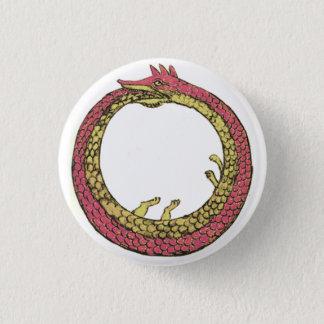 ouroboros 3 cm round badge