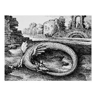 Ouroboros Dragon Poster