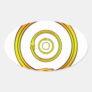 Ouroboros Oval Sticker