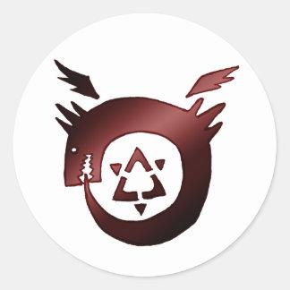 Ouroboros Round Sticker