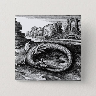 Ouroboros Serpent Pin-back 15 Cm Square Badge