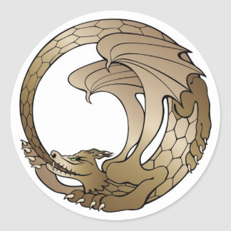 Ouroboros Serpent Sticker