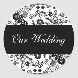 ourwedding round sticker