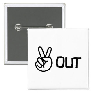 Out 15 Cm Square Badge